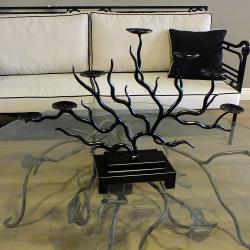 Ferforje Mumluk Ağaç Desenli
