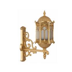 Ferforje Alüminyum Armatür Altın Sarısı Osmanlı Desenli