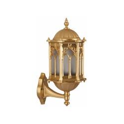 Ferforje Alüminyum Armatür Altın Sarısı Desenli