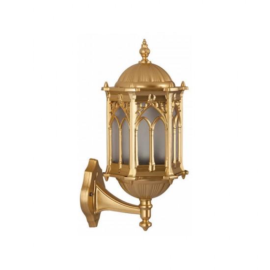 Ferforje Alüminyum Armatür Altın Sarısı Desenli Sarı