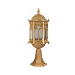 Ferforje Alüminyum Armatür Dik Altın Sarısı Osmanlı Desenli