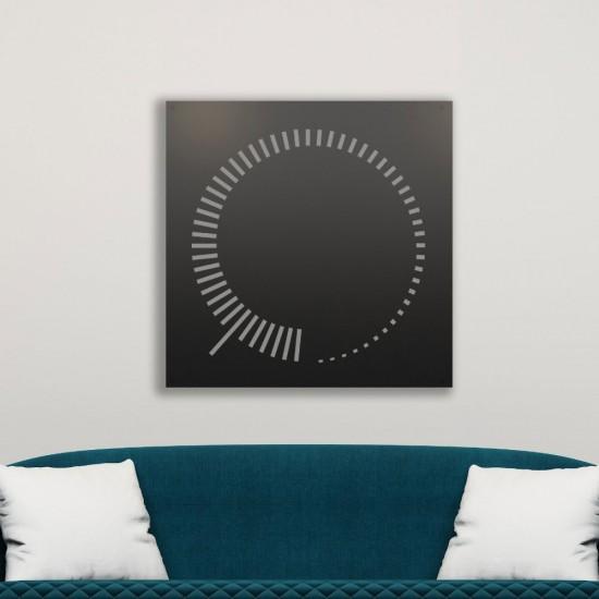 Domino Etkisi Siyah - Beyaz Metal Dekoratif Tablo