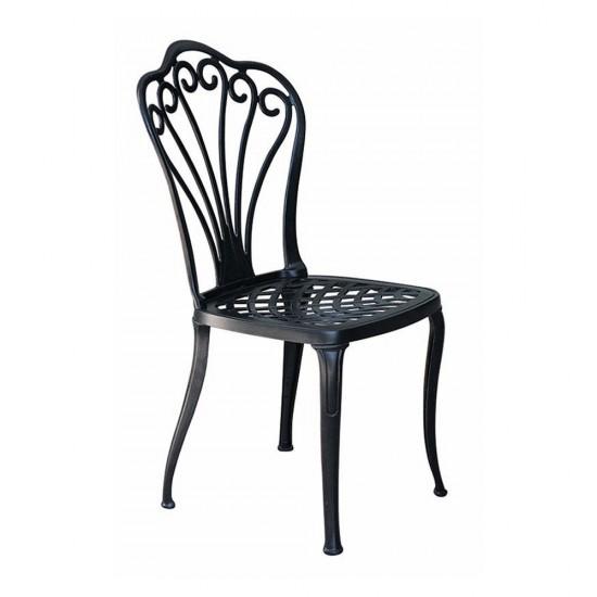 Ferforje Kolsuz Sandalye Desenli Siyah