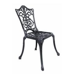 Ferforje Kolsuz Sandalye Sarmaşık Desenli