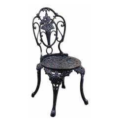 Ferforje Kolsuz Sandalye Gül Desenli