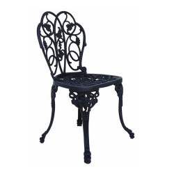 Ferforje Kolsuz Sandalye Yaprak Desenli